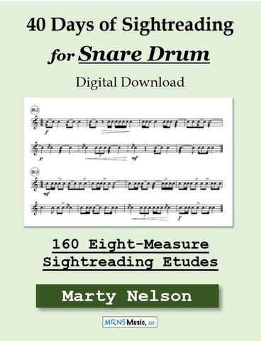 40 Days of Sightreading for Snare Drum
