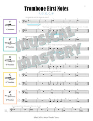 Musical Mastery for Band Trombone Book 1