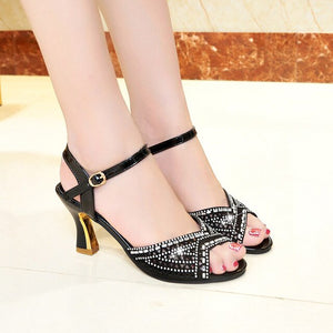 Rhinestone Latin Dance Shoes