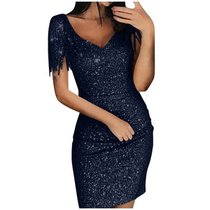 V-neck Club Party Cocktail Dress