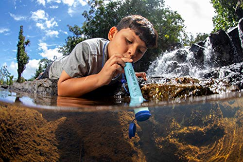 LifeStraw Personal Water Filter for Hiking, Camping, Travel, and Emergency Preparedness