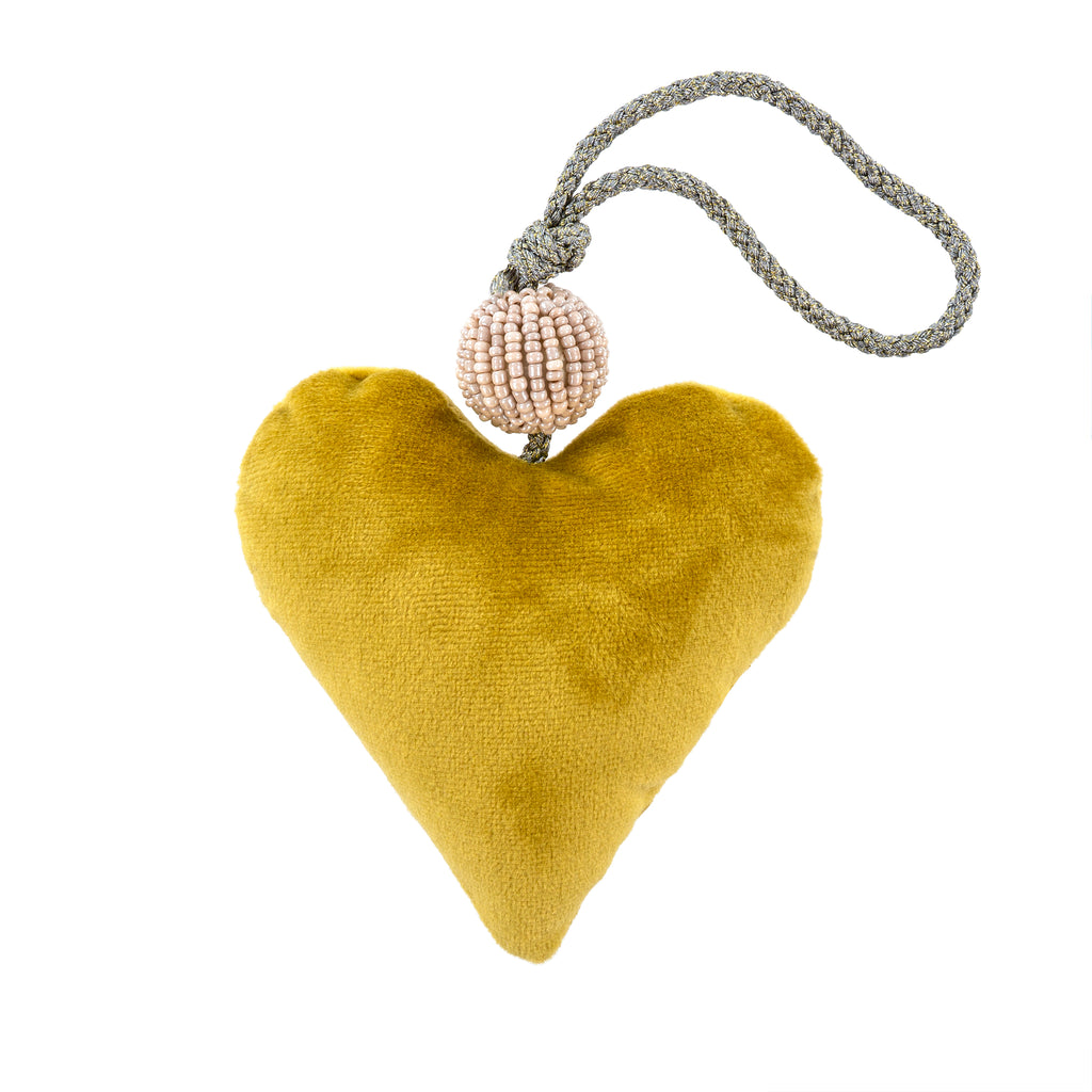 Green Velvet Heart Ornament