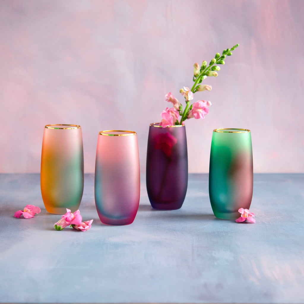Colorful Glass Tumbler