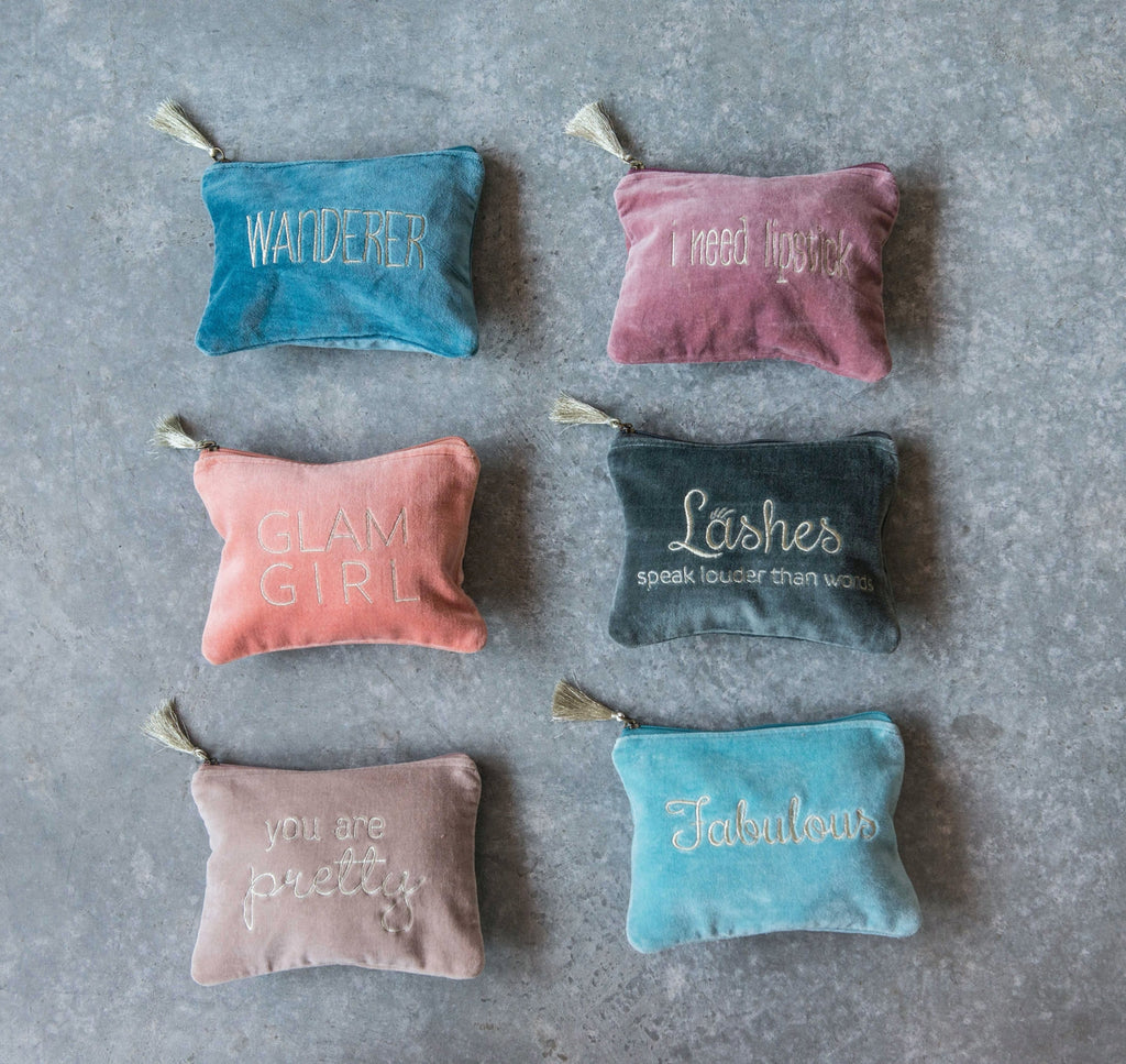 Cotton Velvet Pouch