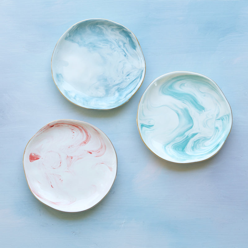 Decorative Marbled Plates