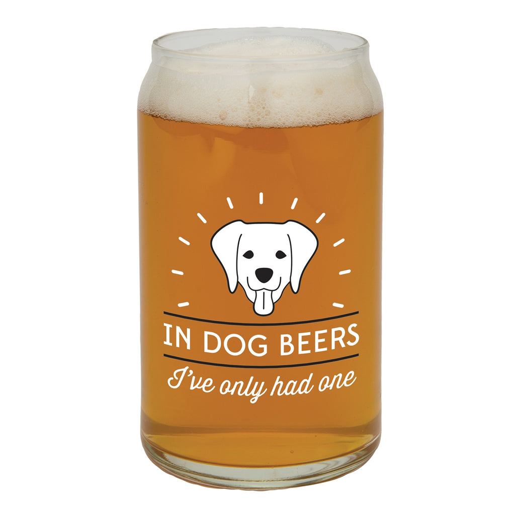 In Dog Beers Glass