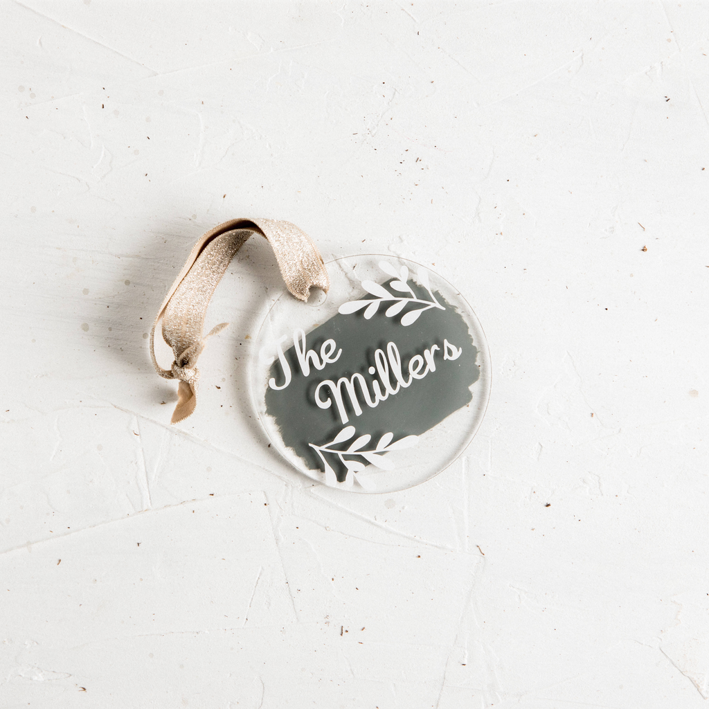 Personalized Grey Ornament