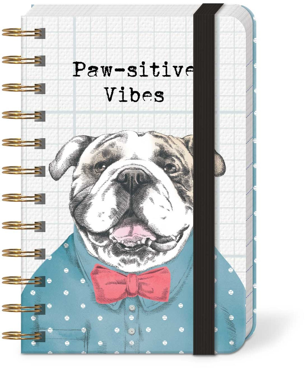 Paw-sitive Vibes Bulldog Pocket Notebook