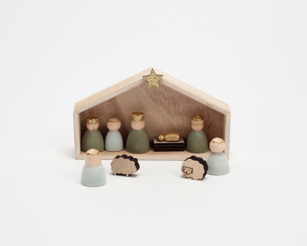Flocked Nativity