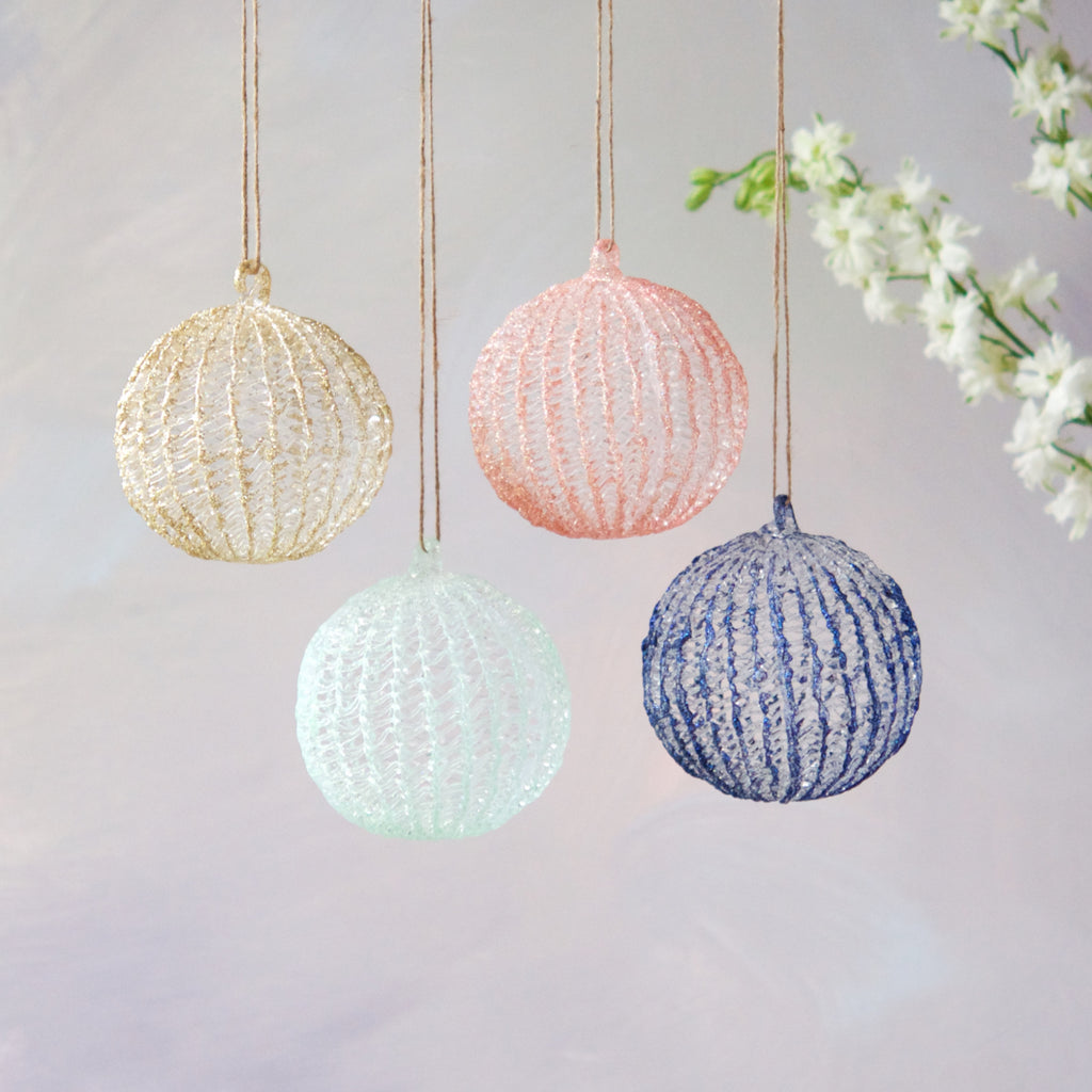 Spun Glass Ball Ornament
