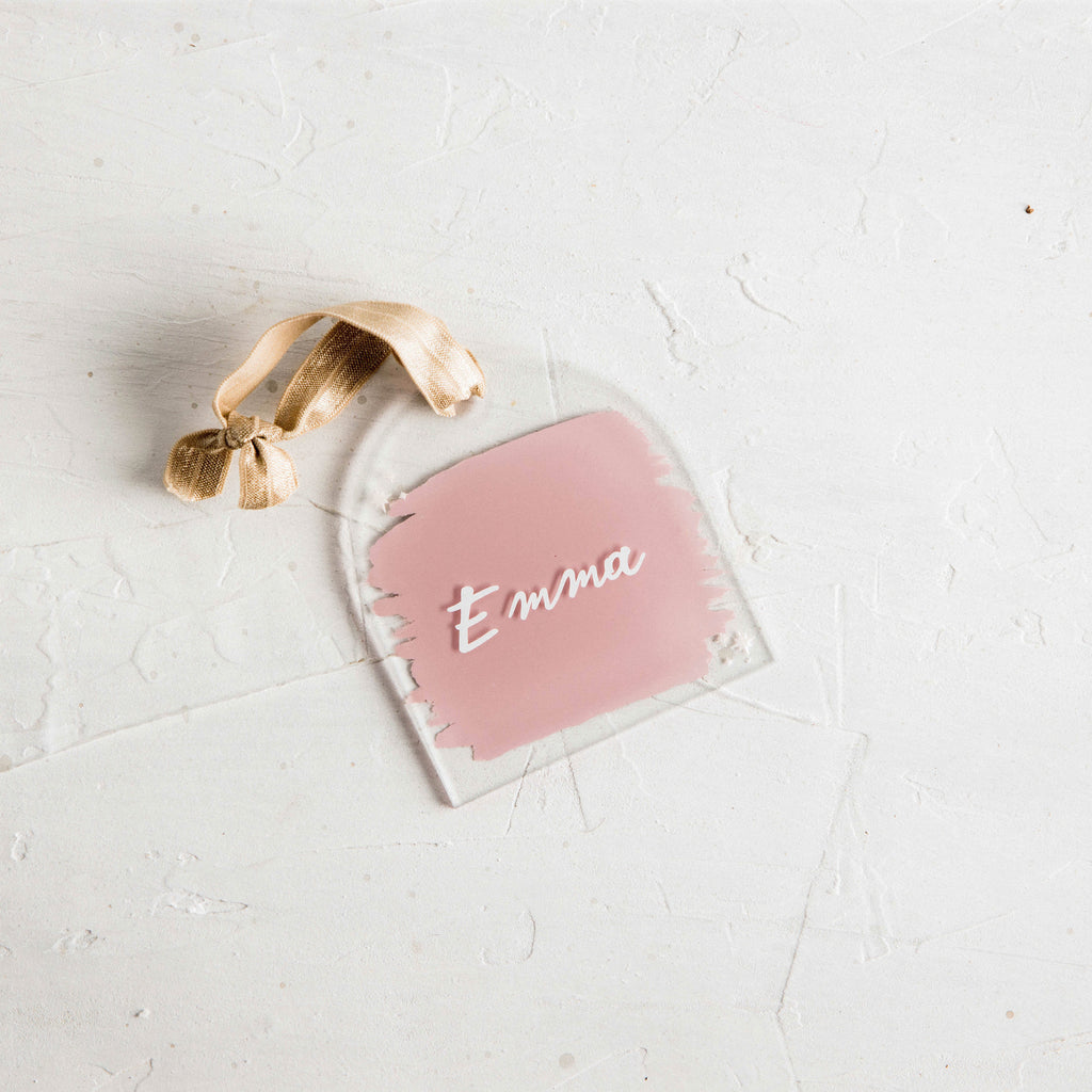 Personalized Pink Ornament