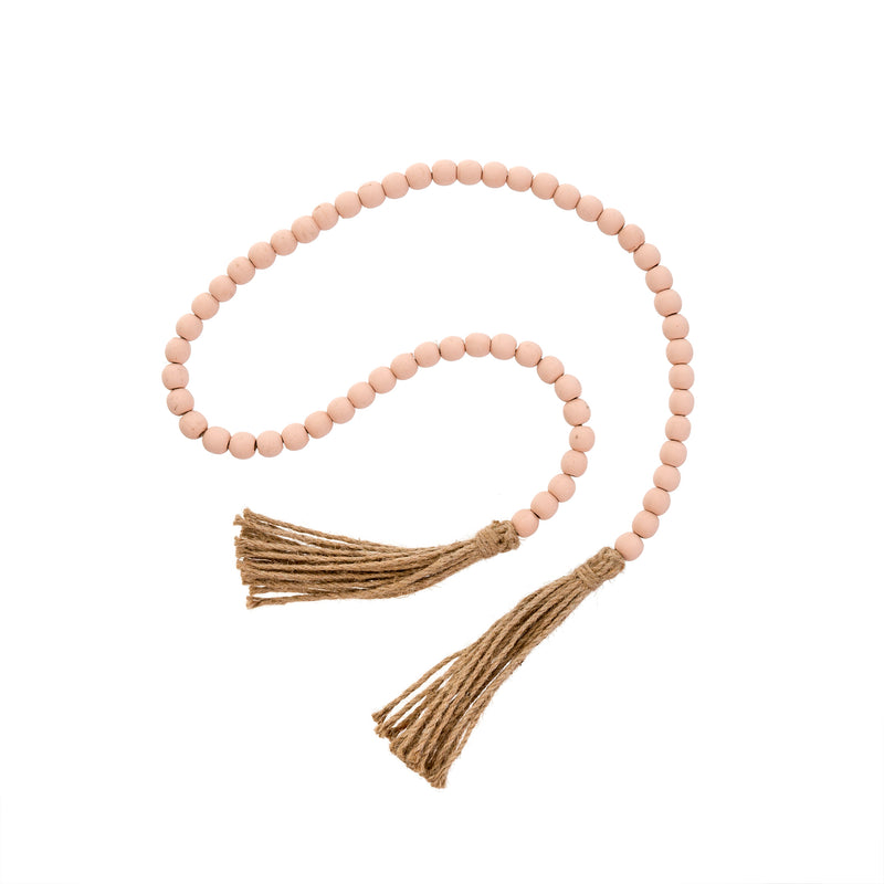 Tan Tassel Prayer Beads
