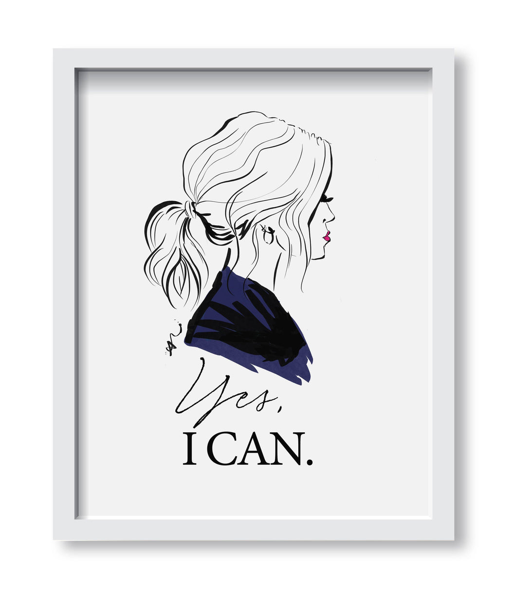 "Framed Print ""Yes I Can!"""