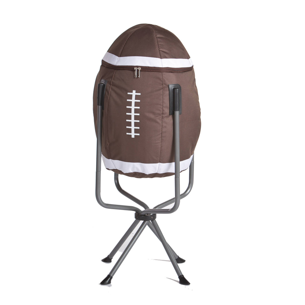 Football Insulated Tall Standing Portable Cooler with Bag