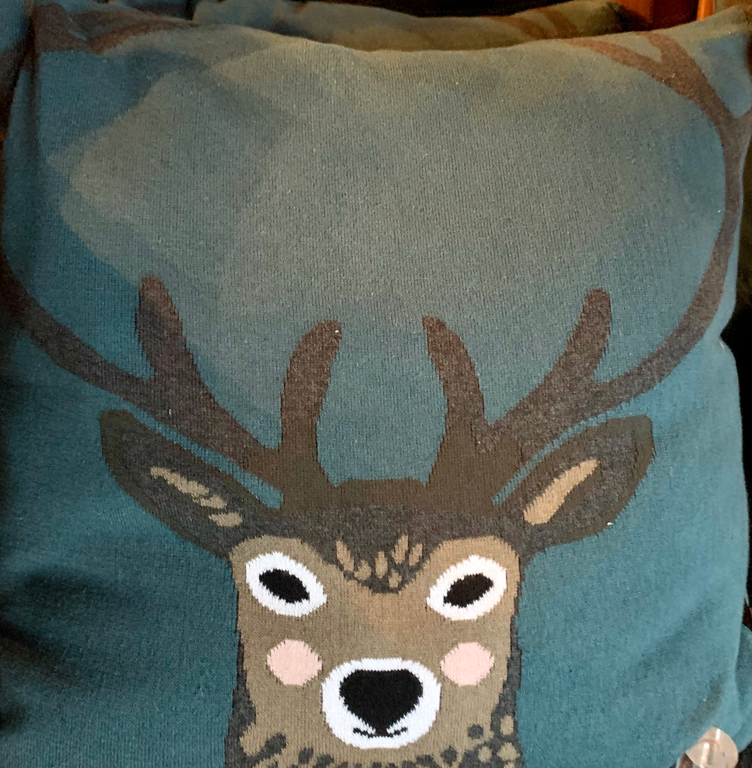 Christmas Deer Pillow Large
