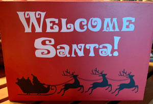Christmas Welcome Santa Small Sign