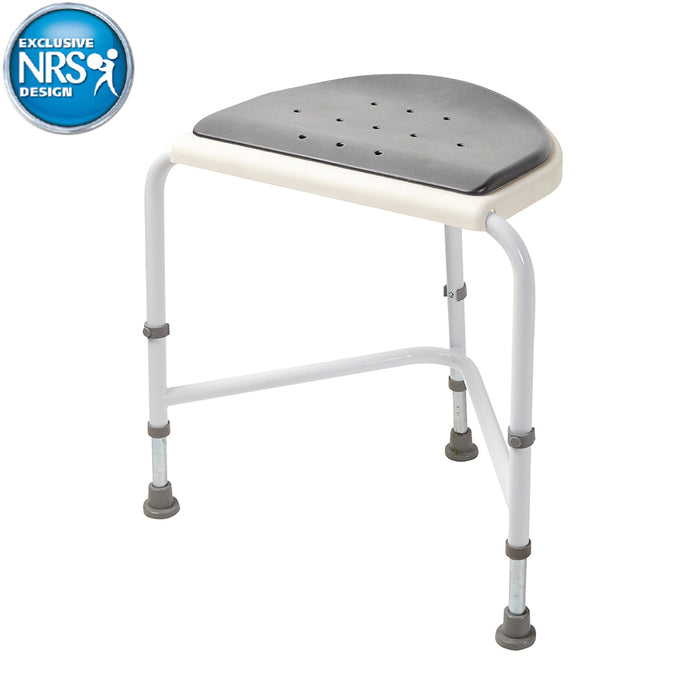 Nuvo Corner Shower Stool-Padded Seat
