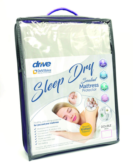 Sleep Dry Sealed Mattress Protector - Mobility2you - discount wholesale prices - from Drive DeVilbiss Healthcare
