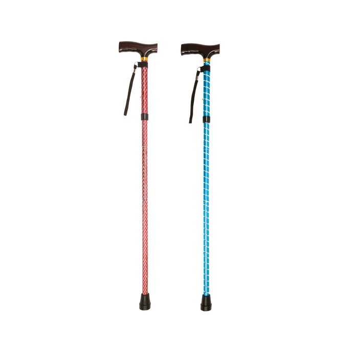Folding Cane With Strap (Blue Crackle) - Mobility2you - discount wholesale prices - from Drive DeVilbiss Healthcare