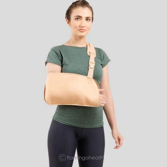 Arm Sling - Flamingo - Great Value Supports from Mobility 2 You . Trusted provider of quality mobility aids & healthcare to individuals, Pharmacy & the NHS. No Discount Code Needed.