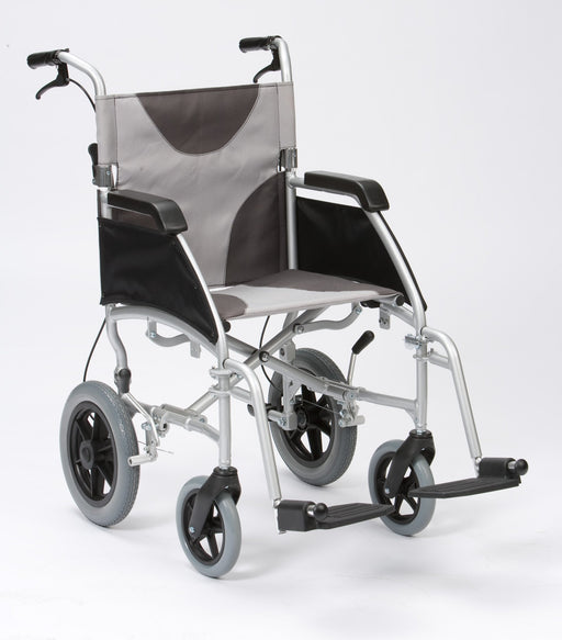 "17"" Ultra Lightweight Aluminium Wheelchair Grey/Black Canvas Transit - Mobility2you - discount wholesale prices - from Drive DeVilbiss Healthcare"