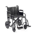 "24"" Sentra Hd Transit Wheelchair With Footrests In Black"