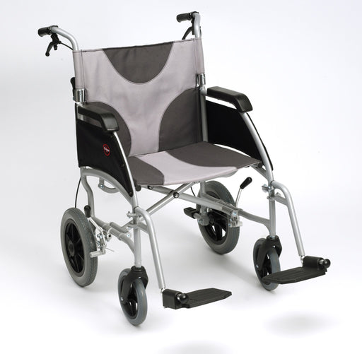 "20"" Ultra Lightweight Aluminium Wheelchair Grey/Black Canvas Transit - Mobility2you - discount wholesale prices - from Drive DeVilbiss Healthcare"