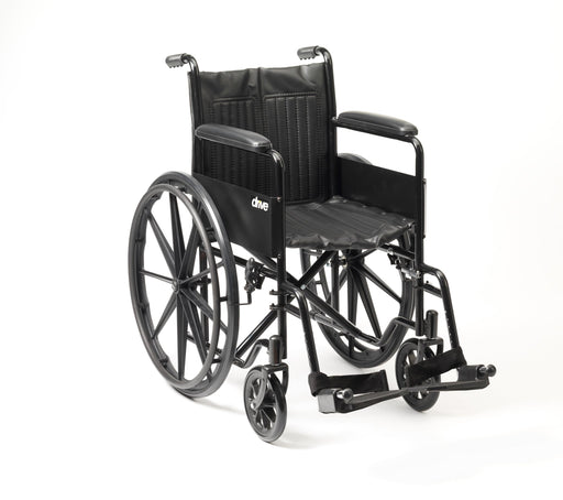 "18"" S1 Budget Steel Wheelchair Self Propel Solid Mag Wheels - Mobility2you - discount wholesale prices - from Drive DeVilbiss Healthcare"