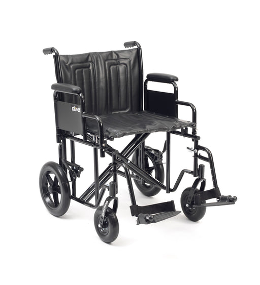 "24"" Sentra Hd Plus Wheelchair With Footrests In Black"