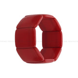 Resin Stretchable Red Handmade Bracelet