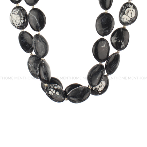 Resin Black Double Layered Fashion Handmade Necklace
