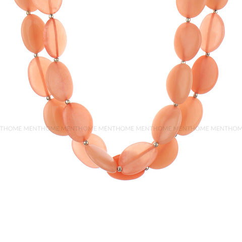 Resin Pink Double Layered Fashion Handmade Necklace