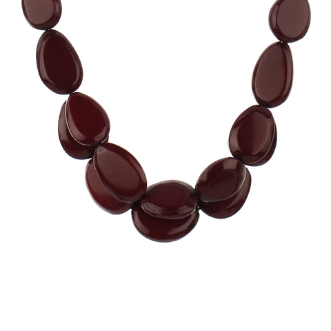 Resin Brown Double Layered Fashion Handmade Necklace