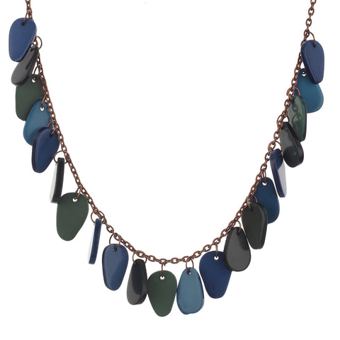 Designer Resin (Blue and Green) Color Handmade Necklace