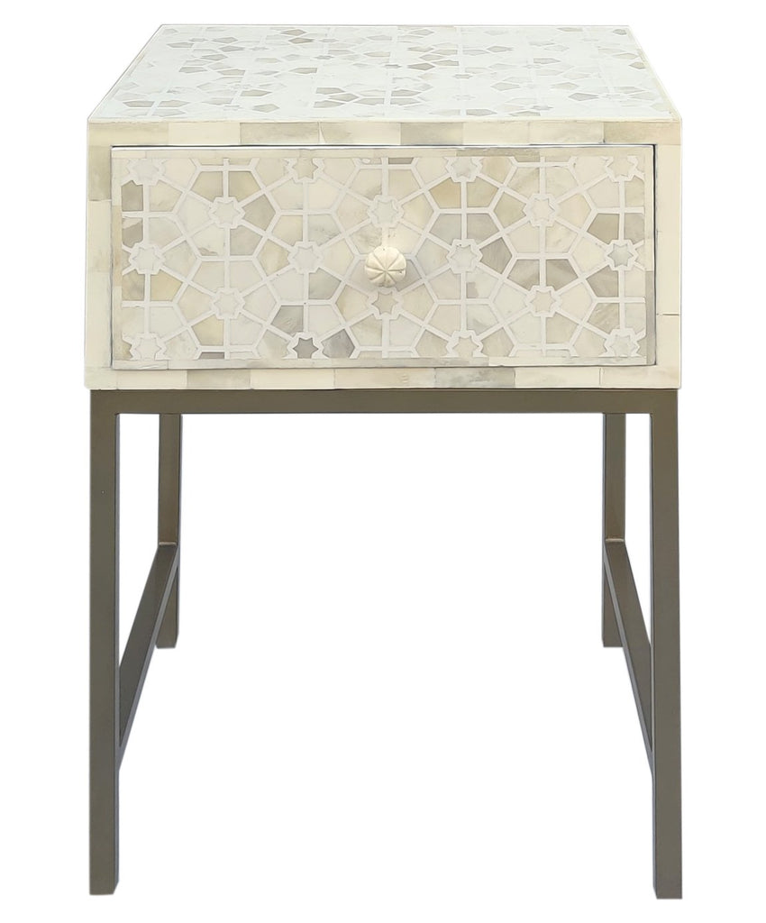 Star Pattern Bedside Table