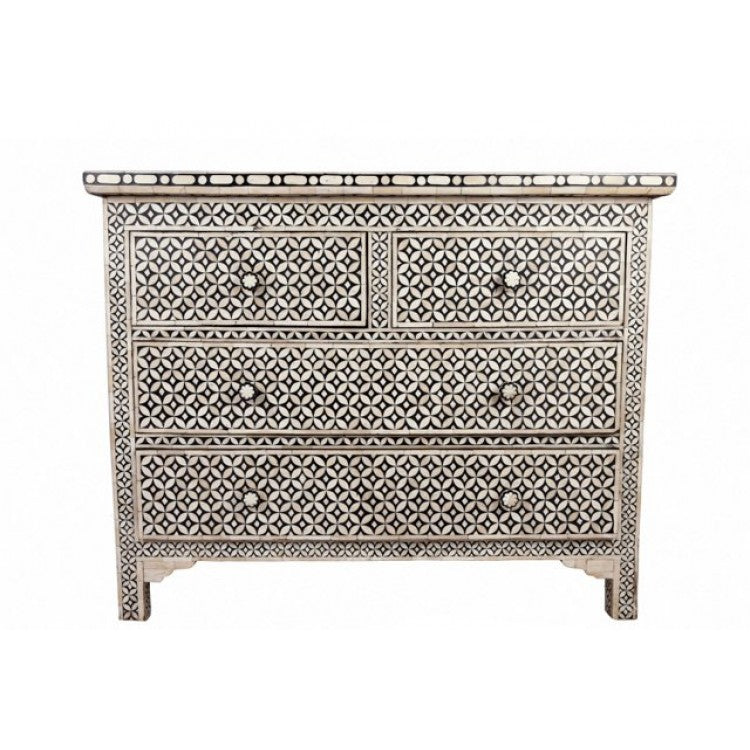 Bone Inlay Dresser, Geometric