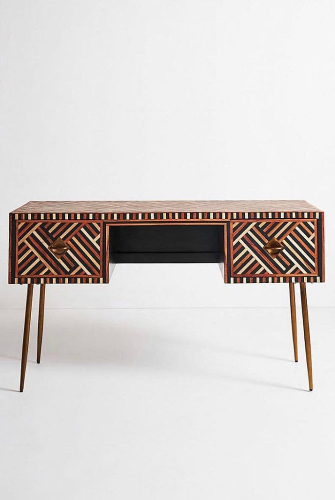 Bone inlay desk, bone Inlay optical console , bone inlay writing desk