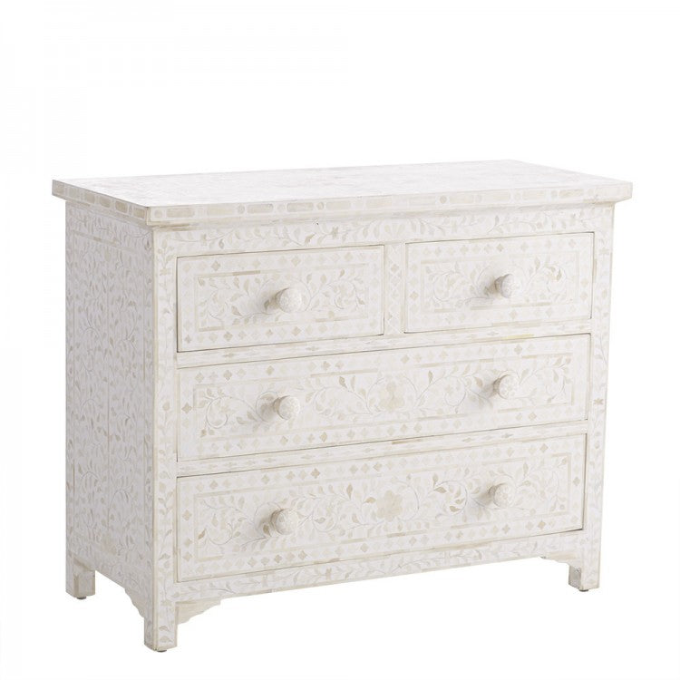 Bone Inlay 4 Drawers Sideboard