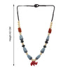 Multi Color Beads Resin Handmade Necklace with Elephant Shaped Locket