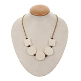 Western Wear White Handmade Necklace with Golden Chain