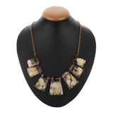 Western Wear Designer Resin Handmade Necklace with Golden Chain