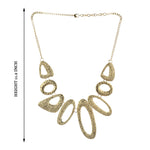 Western Golden Brass Metal Handmade Designer Necklace with Chain
