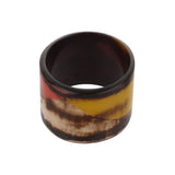 Fashion Brown Pink Printed Resin Bangle Handmade Bracelet