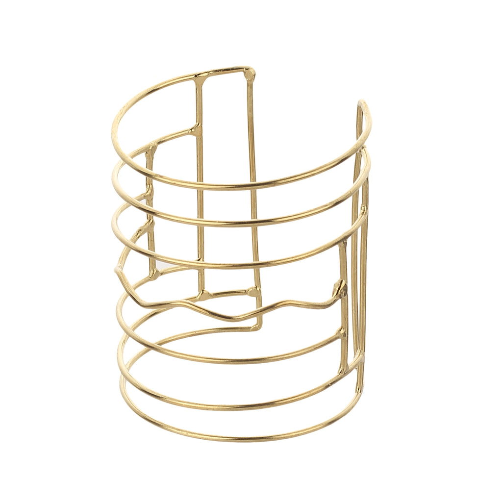Designer Open Wide Smooth Hollow Hoop Golden Cuff Metal Bangle Handmade Brass Bracelet