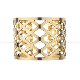 Designer Geometric Golden Open Cuff Metal Handmade Brass Bangle Bracelet