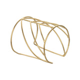 Light Weight Golden Cuff Bangle Handmade Bracelet made of Brass