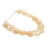 Resin White Double Layered Women Fashion Handmade Necklace