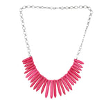 Western Wear Sky Pink Handmade Necklace