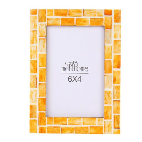 Handmade Orange Mosaic Art Picture Photo Frame | 6x4