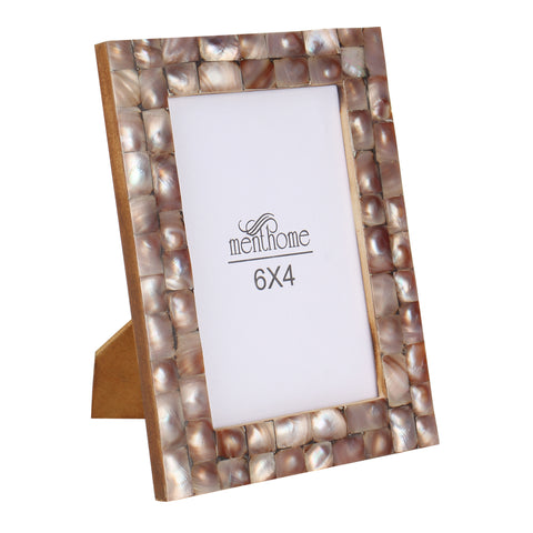 Handmade Chic Mother of Pearl Black Pearl Picture Photo Frame | 6x4